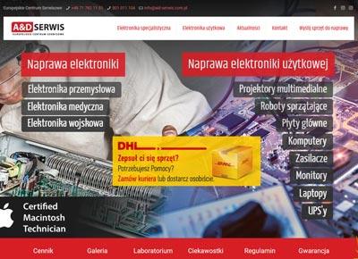 projekt i wykonanie strony internetowe AiD Serwis